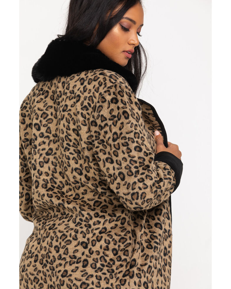 Double D Ranch Women's Leopard Cactus Cat Jacket, Leopard, hi-res