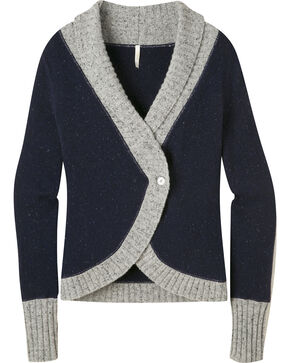 Mountain Khakis Women's Fleck Shawl Cardigan, Navy, hi-res