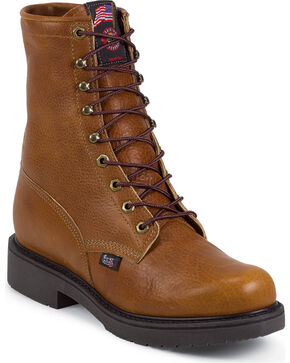 Justin Men's Lace-R Work Boots, Copper, hi-res