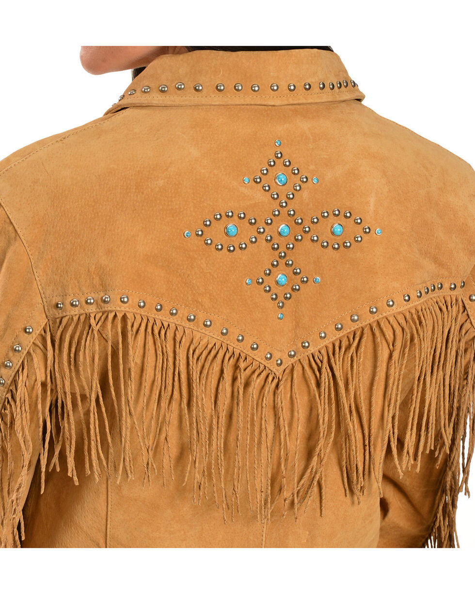 Scully Studded Fringe Jacket, Tan, hi-res