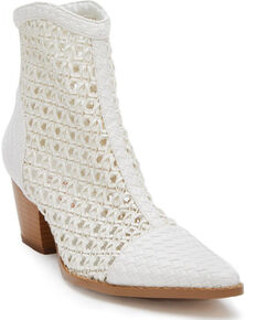 Coconuts by Matisse Women's Caught Up Fashion Booties - Pointed Toe, White, hi-res