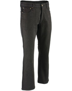 "Milwaukee Leather Men's Black 34"" Aramid Infused 5 Pocket Loose Fit Jeans - Big, Black, hi-res"