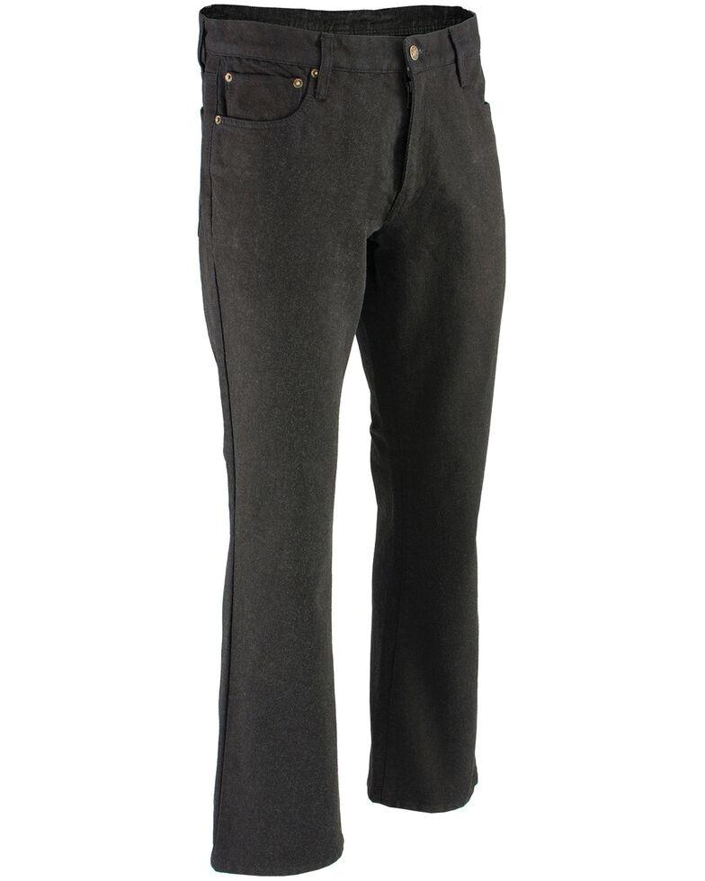 """Milwaukee Leather Men's Black 34"""" Aramid Infused 5 Pocket Loose Fit Jeans - Big, Black, hi-res"""