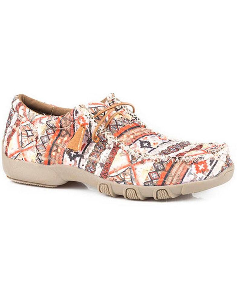 Roper Women's Chillin' Aztec Casual Shoes - Moc Toe, Brown, hi-res