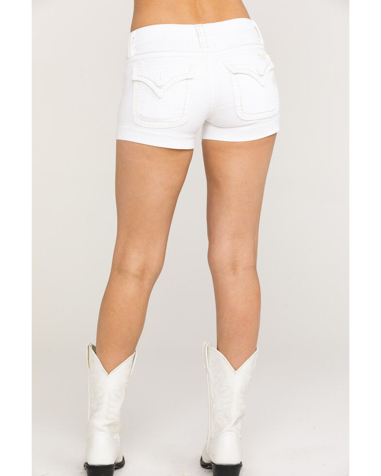 Miss Me Women's White Button Mid-Rise Shorts, Multi, hi-res