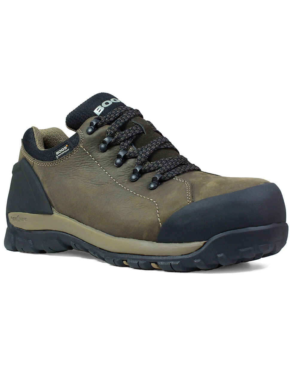 Bogs Men's Foundation Waterproof Work Boots - Round Toe, Brown, hi-res