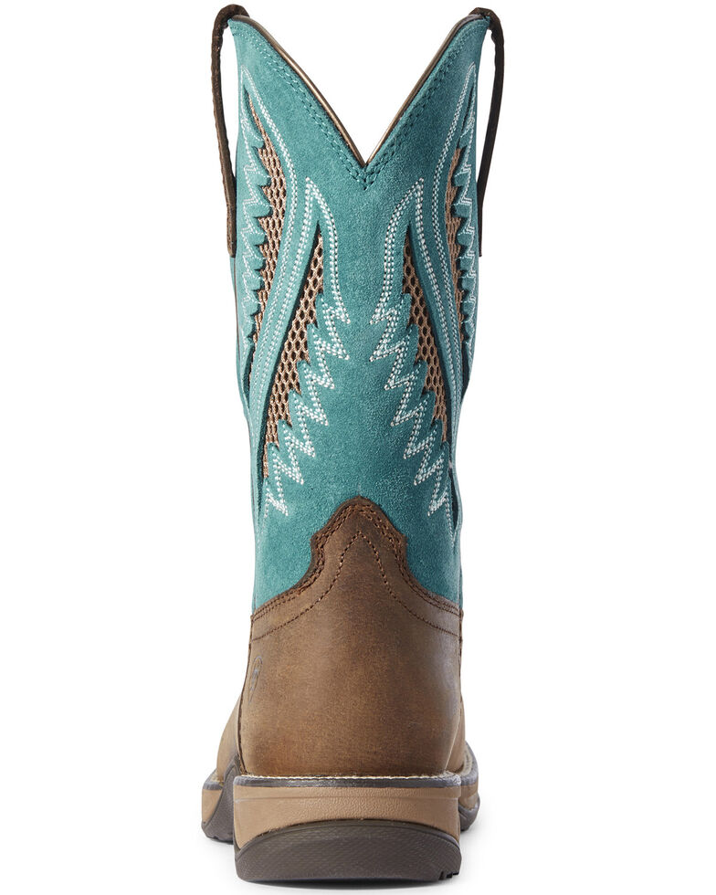 Ariat Women's Anthem VentTEK Western Boots - Wide Square Toe, Brown, hi-res