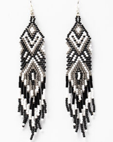 Idyllwind Women's Ready For Some Frill Drop Beaded Earrings, Black, hi-res