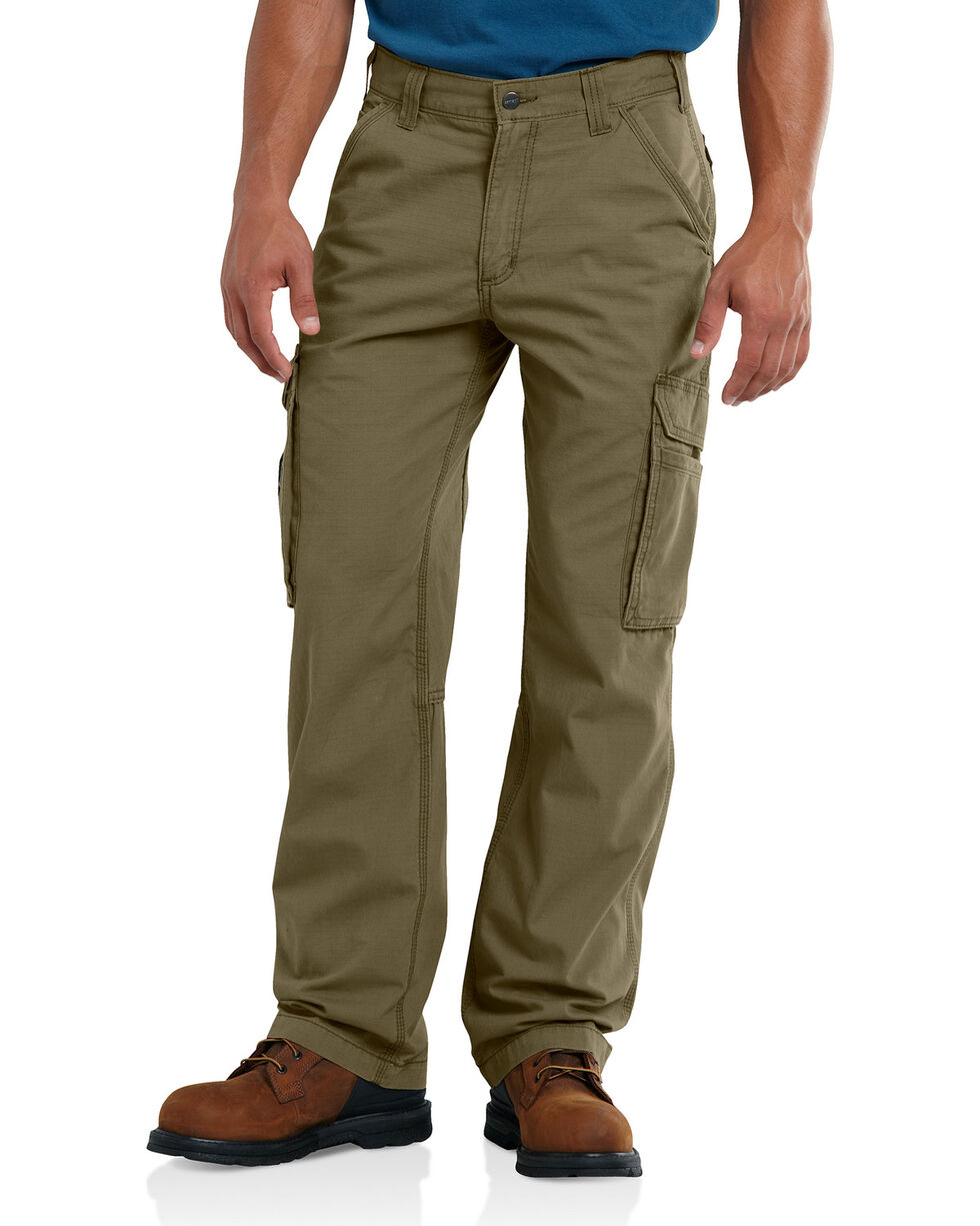 Carhartt Men's Olive Force Tappen Cargo Pants - Straight Leg , Olive, hi-res