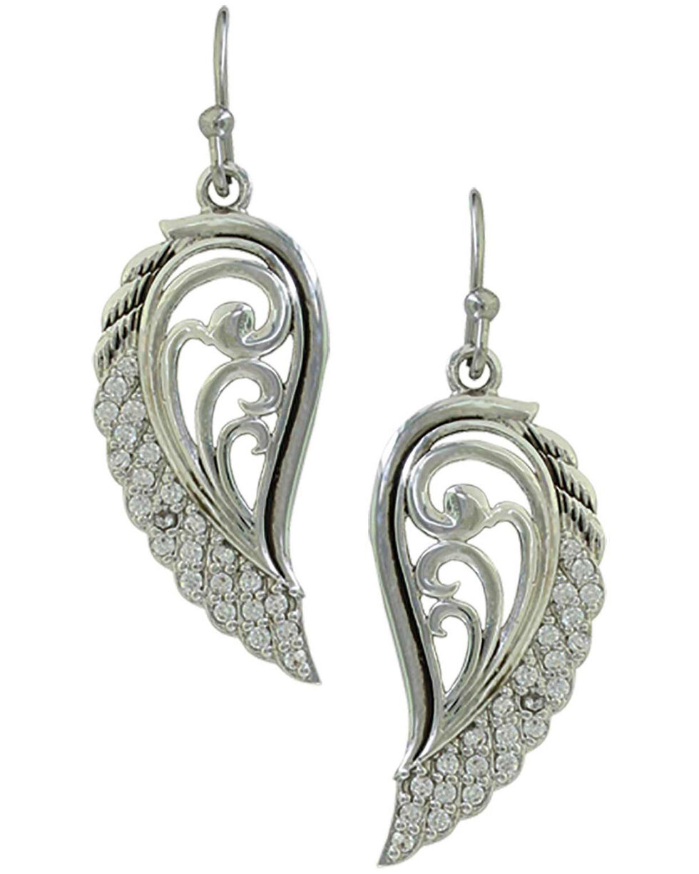 Montana Silversmiths Women's Flying Through The Gates of The Mountains Earrings, Silver, hi-res