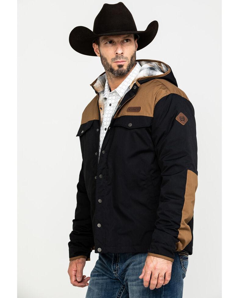 Cinch Men's Colorblock Canvas Snap Front Jacket , Purple, hi-res