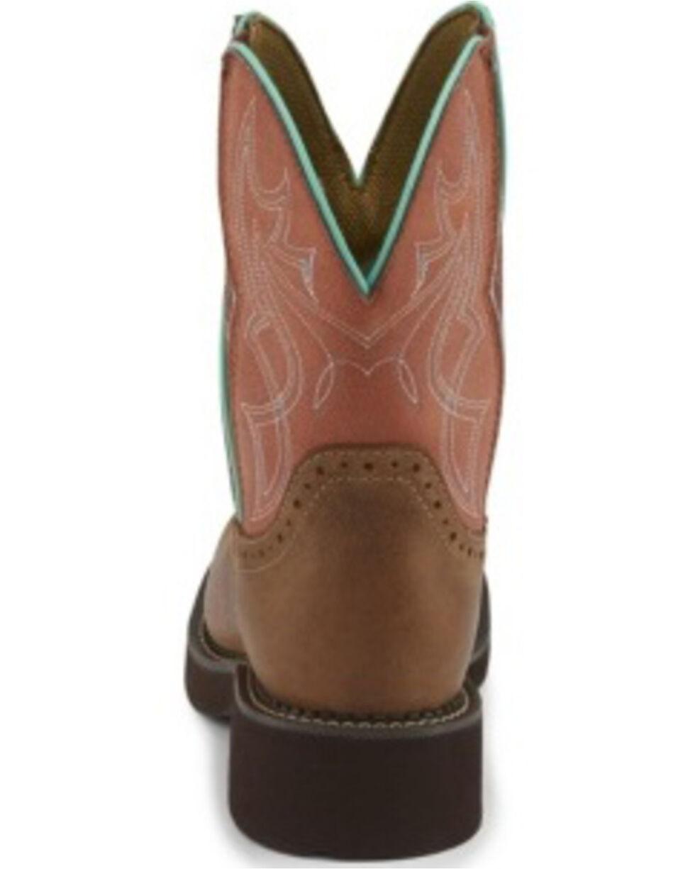 Justin Women's Gemma Side Gore Western Boots - Round Toe, Brown, hi-res