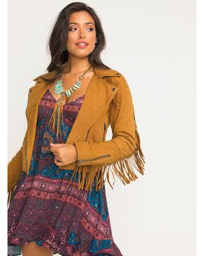 Idyllwind Women's Swagger n' Suede Fringe Jacket, Camel, hi-res