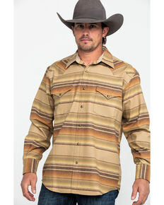 Pendleton Men's Tan Canyon Ombre Stripe Long Sleeve Flannel Shirt , Tan, hi-res