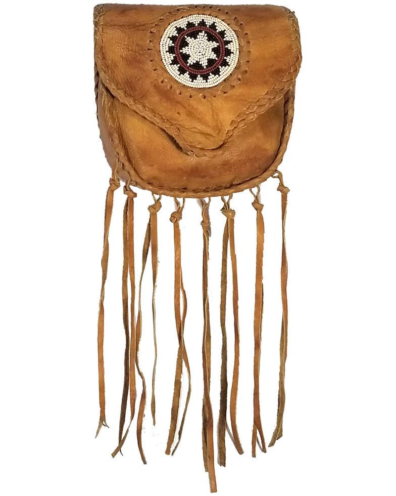 Kobler Leather Women's Beaded Clip Bag, Tan, hi-res