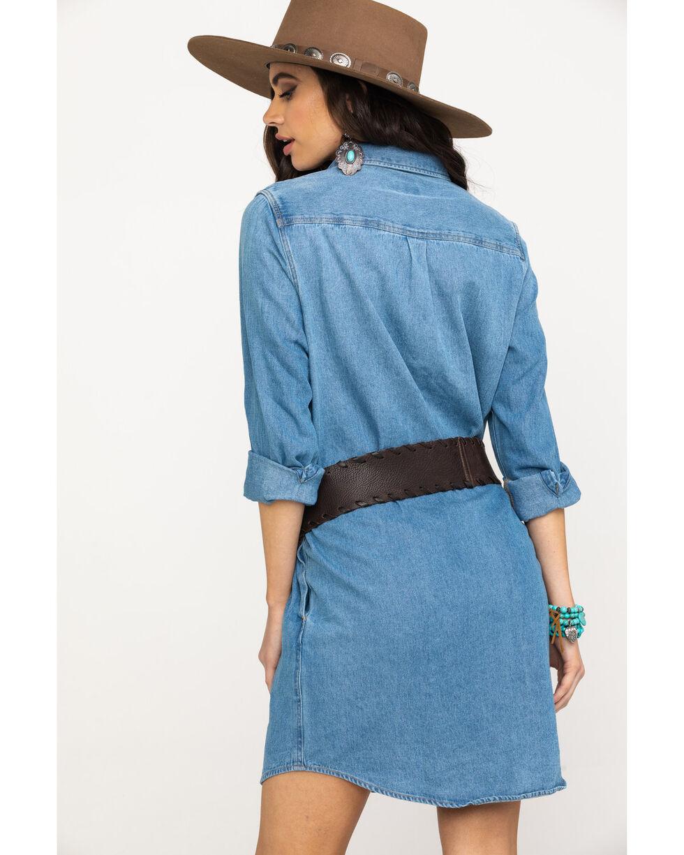 Wrangler Women's Heritage West Dress, Indigo, hi-res