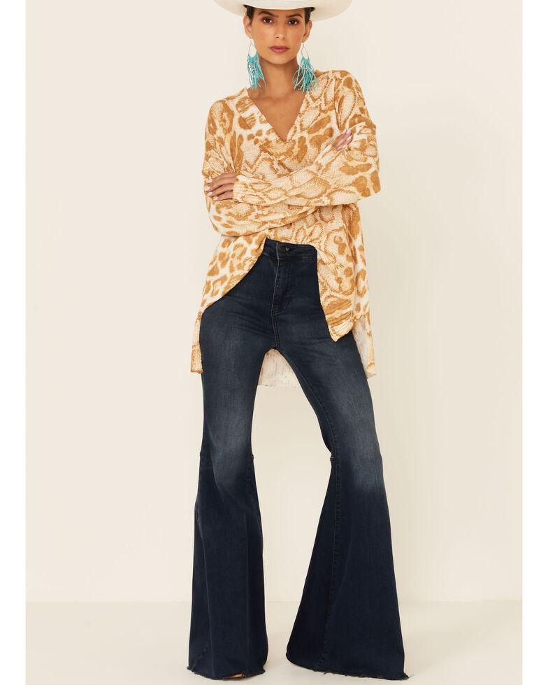 Show Me Your Mumu Women's Sand Cliffside Cheetah Print Pullover Sweater, Sand, hi-res
