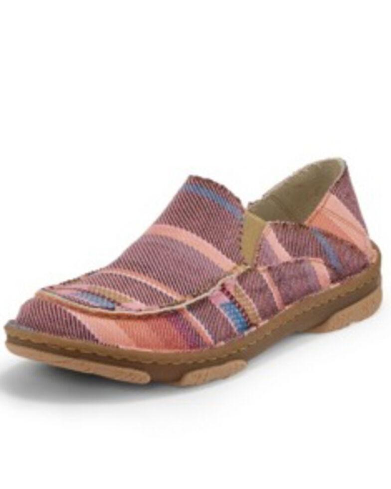 Tony Lama Women's Moccsi Rosa Shoes - Moc Toe, Pink, hi-res