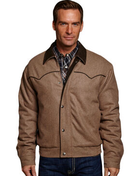 Cripple Creek Men's Wool Coat, Tan, hi-res