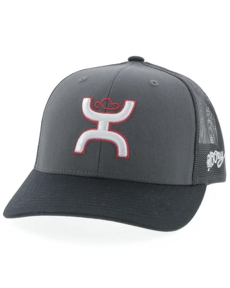 HOOey Men's Charcoal Sterling Mesh Ball Cap , Charcoal, hi-res