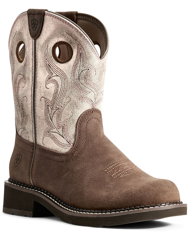 Ariat Women's Heritage Cowgirl Western Boots - Round Toe, , hi-res