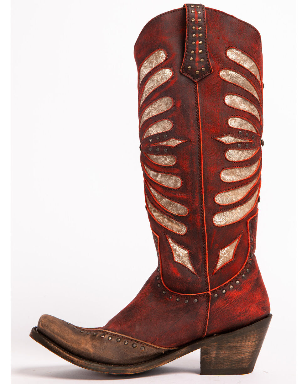 Liberty Black Women's Red Vintage Rojo Boots - Narrow Square Toe , Red, hi-res