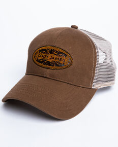 Cody James Men's Brown Coin Patch Mesh Ball Cap, Lt Brown, hi-res