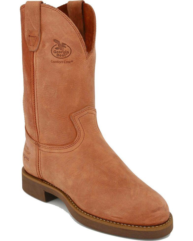 Georgia Men's Wellington Prairie Heritage Work Boots, Chestnut, hi-res