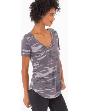 Z Supply Women's Grey Tinged Camo Tee, Camouflage, hi-res