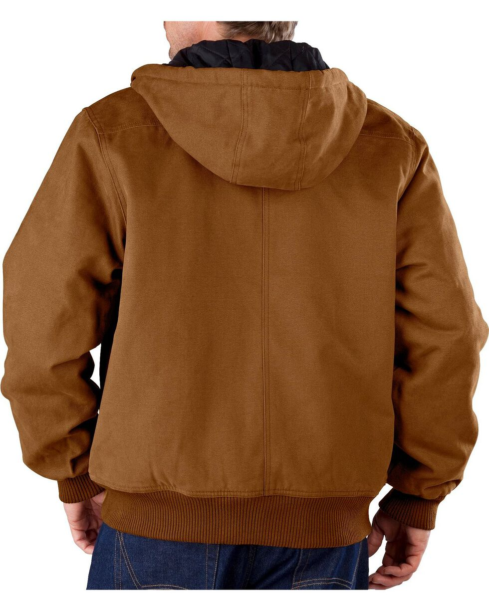 Dickies Men's Sanded Duck Hooded Jacket, Brown Duck, hi-res
