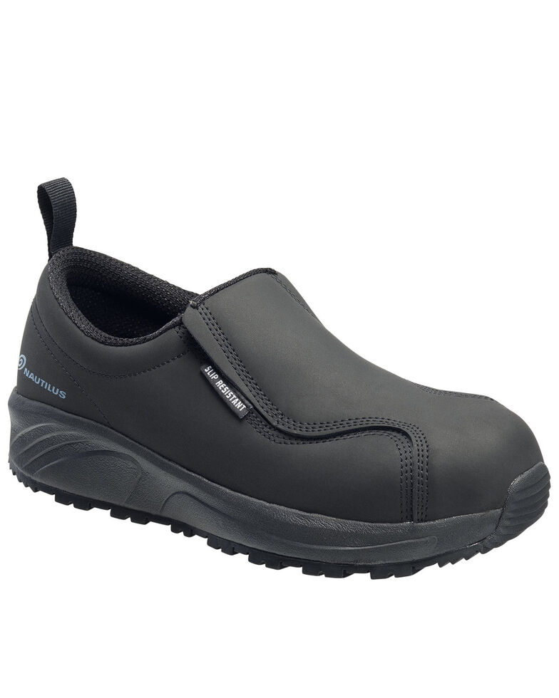 Nautilus Women's Black Guard Work Shoes - Composite Toe, Black, hi-res