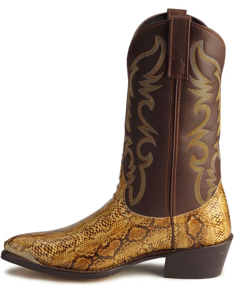 595fd43a25d Laredo Python Print Cowboy Boots - Pointed Toe