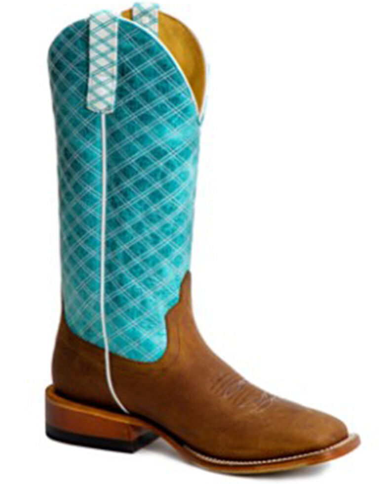 Macie Bean Women's Tex Marks The Spot Western Boots - Wide Square Toe, Turquoise, hi-res