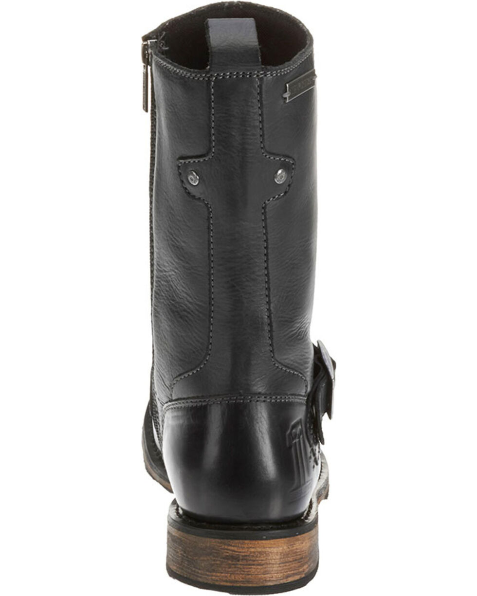"""Harley-Davidson Men's Brendan 10"""" Leather Motorcycle Boots, Black, hi-res"""