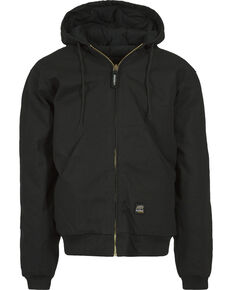 Berne Men's Original Hooded Jacket, Black, hi-res