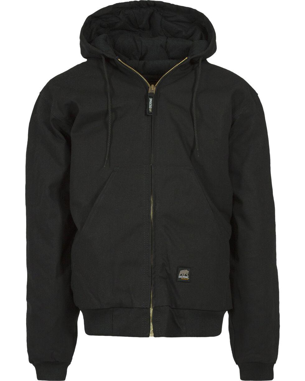 Berne Men's Original Hooded Jacket, Black, hi-res