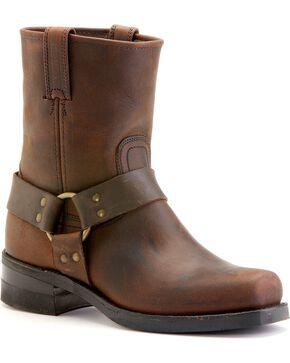 Frye Men's Short Harness Motorcycle Boots, Gaucho, hi-res