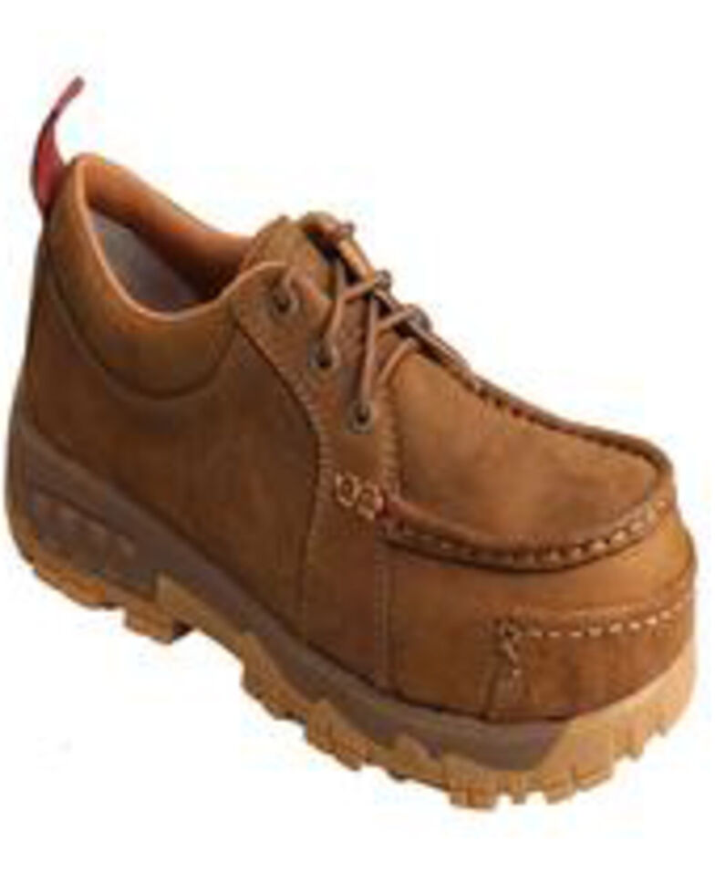 Twisted X Women's Comp Toe Work Shoes - Moc Toe, Tan, hi-res