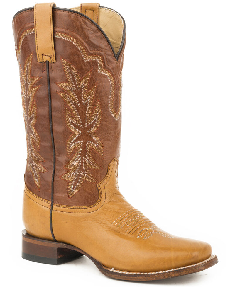 Stetson Women's Tan Jessica Western Boots - Wide Square Toe , Brown, hi-res