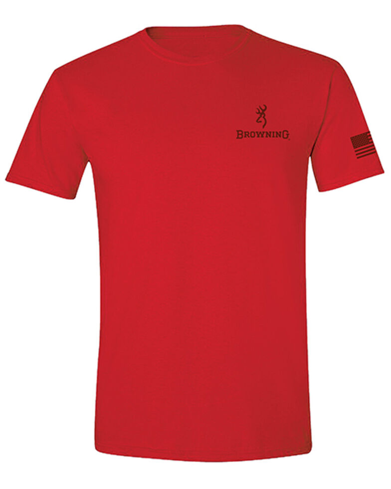 Browning Men's Red United We Stand Graphic Short Sleeve T-Shirt , Red, hi-res