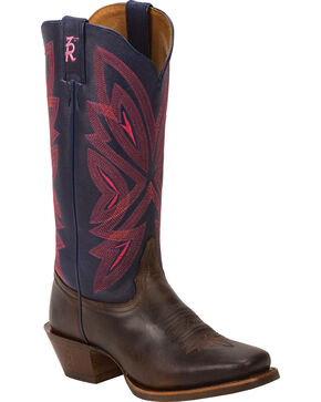 Tony Lama Women's 3R Western Boots, Brown, hi-res