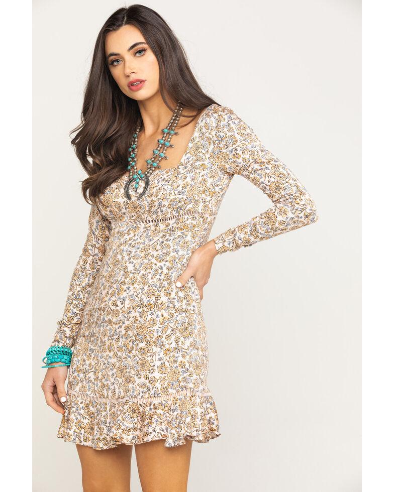 Free People Women's Boheme Mini Dress, Ivory, hi-res
