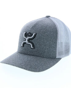 HOOey Men's Coach 2-Tone Embroidered Logo Cap, Heather Grey, hi-res