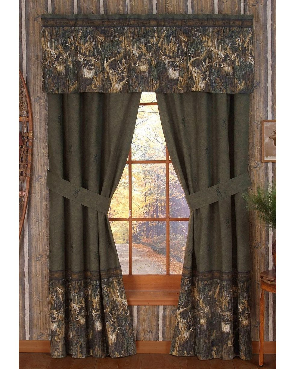 Browning Whitetails Rod Pocket Curtains, Multi, hi-res