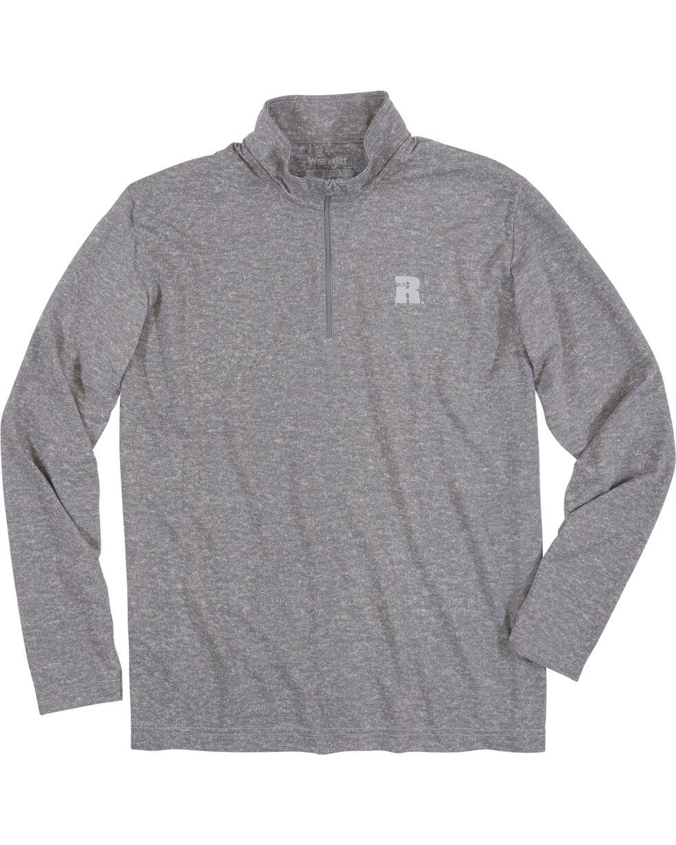 Wrangler Men's Olive Riggs Workwear 1/4 Zip Pullover - Big & Tall , Heather Grey, hi-res
