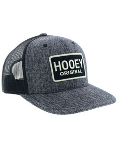 HOOey Men's Black Original Patch Trucker Cap, Black, hi-res