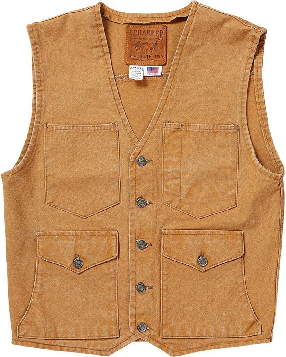 Schaefer Outfitter Men's Suntan Vintage Mesquite Vest , Tan, hi-res