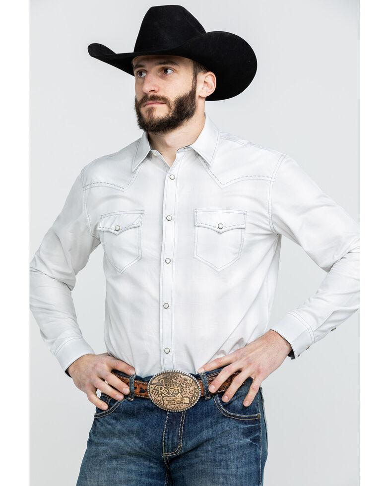 Cody James Men's Clear Flats Large Plaid Long Sleeve Western Shirt , White, hi-res