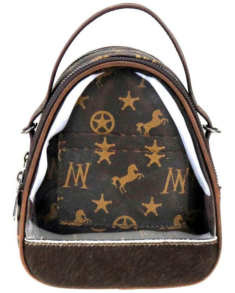 Montana West Women's Signature Monogram Mini Bag, Coffee, hi-res