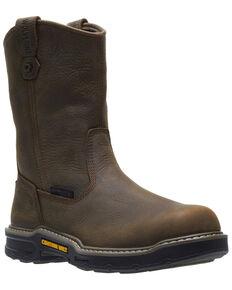 Wolverine Men's Bandit Waterproof Western Work Boots - Soft Toe, Dark Brown, hi-res